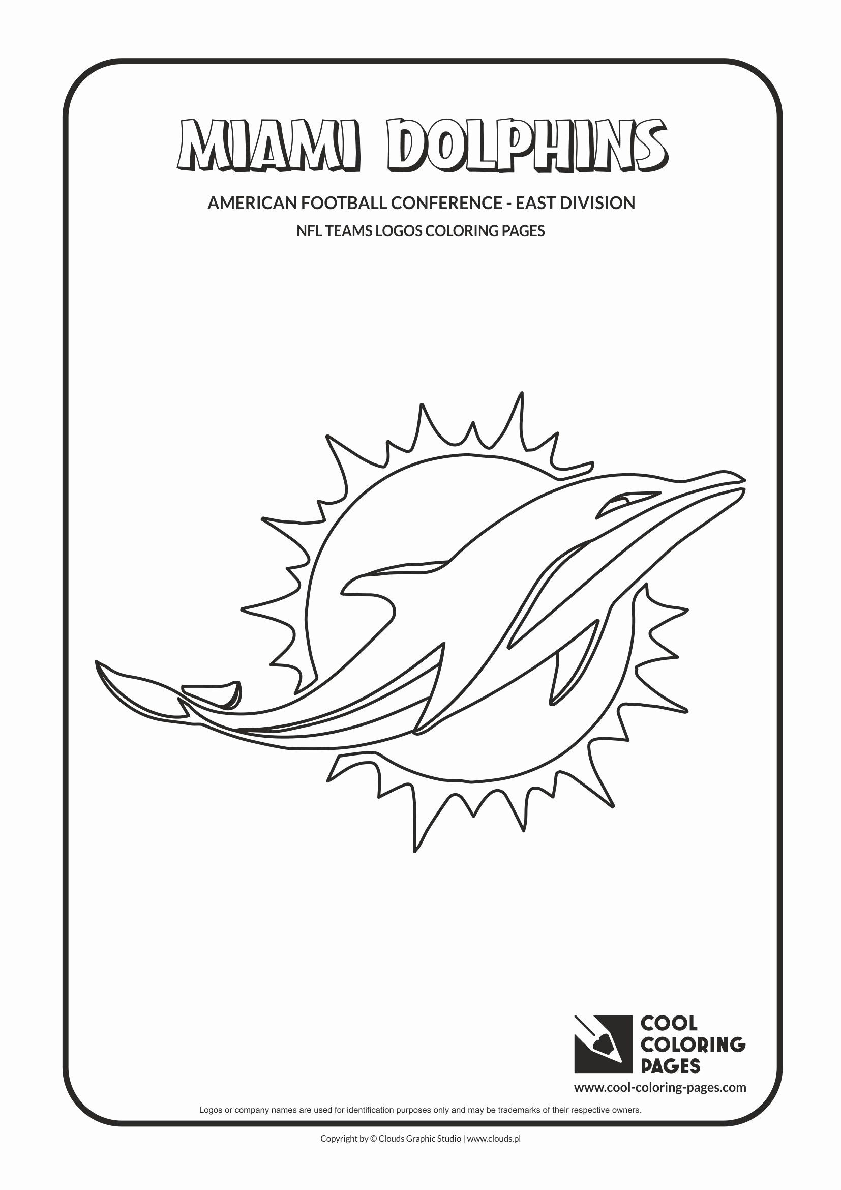 Nfl Logo Coloring Page Lovely Cool Coloring Pages Nfl Teams Logos Coloring Pages Cool Football Coloring Pages Dolphin Coloring Pages Sports Coloring Pages