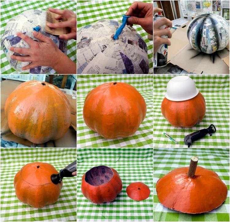 Bricolage Halloween facile en papier mâché \u20135 idées avec des instructions
