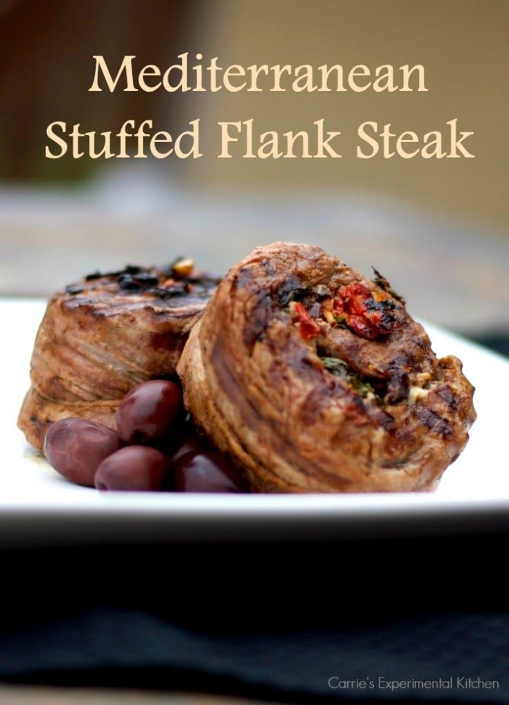 Mediterranean Stuffed Flank Steak Recipe In 2020 Flank Steak