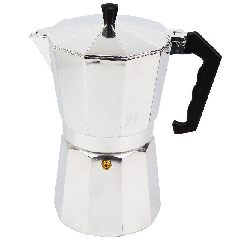 9 Cups Aluminium Coffee Maker Latte Maker Expresso Moka Pot Stove Top Easy Clean
