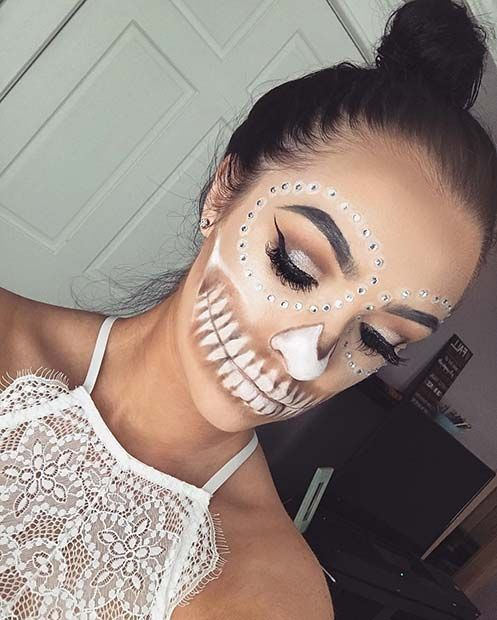 23 Pretty Halloween Makeup Ideas Pretty halloween makeup, Pretty - cute makeup ideas for halloween