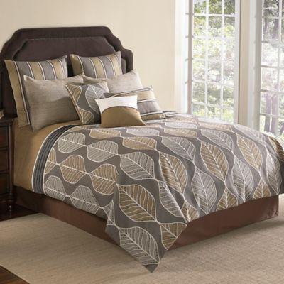 Brenda 9 Piece Comforter Set In Brown Www Bedbathandbeyond Com