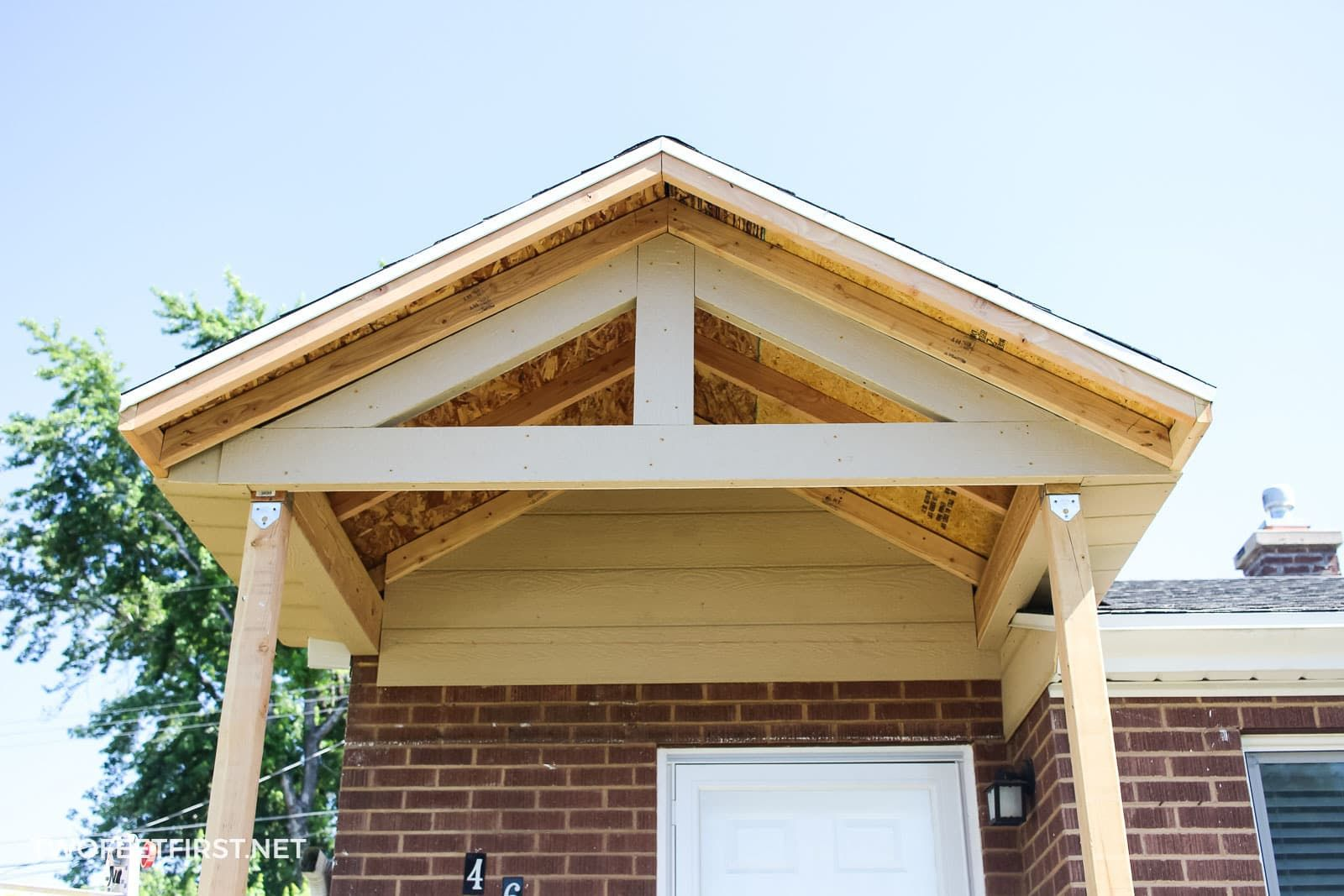 Adding a front porch to an existing house with images