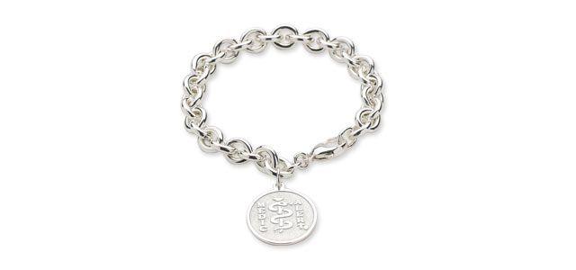 Medic Alert Bracelet Tiffany Style