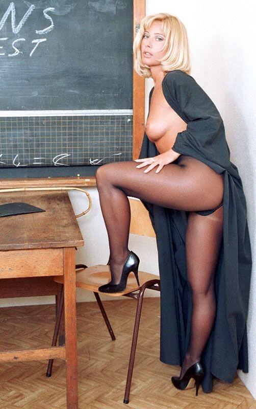 Nude nylon teachers