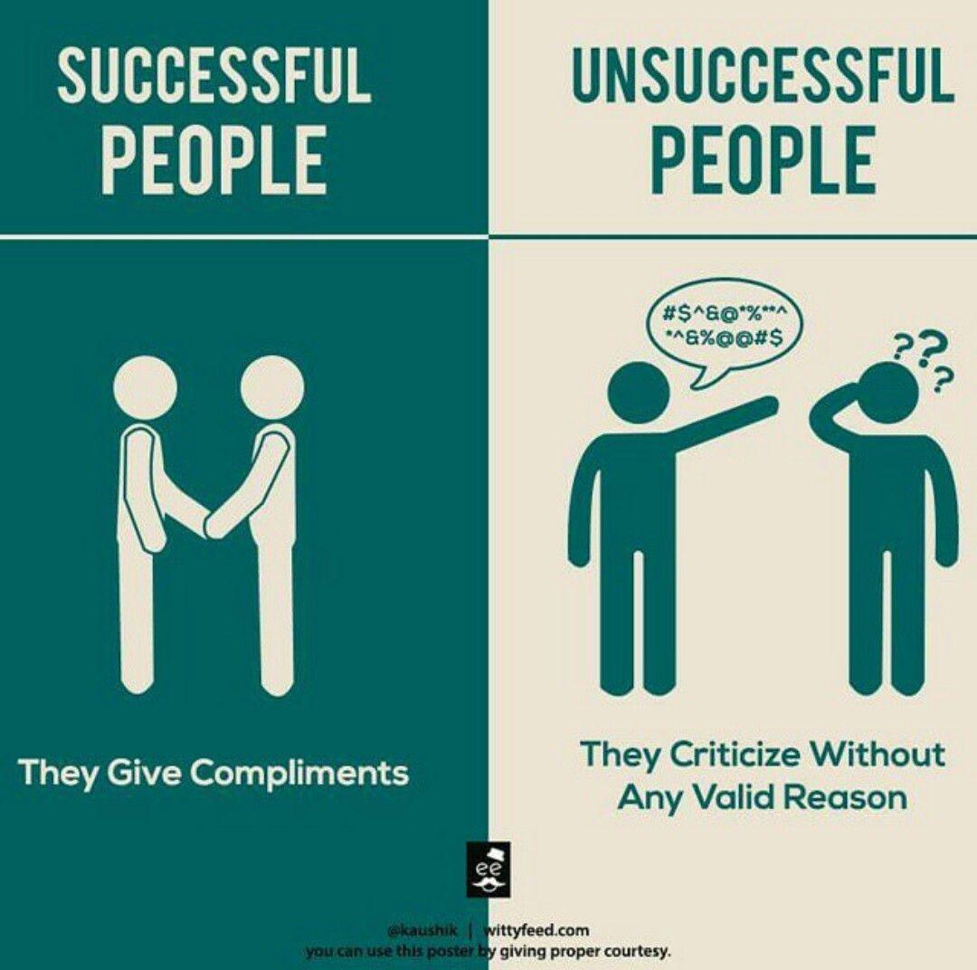 Successful People vs Unsuccessful People   Successful