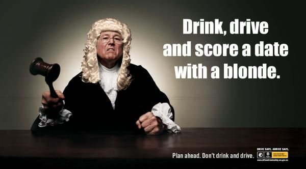 Drink Drive And Score A Date With A Blonde