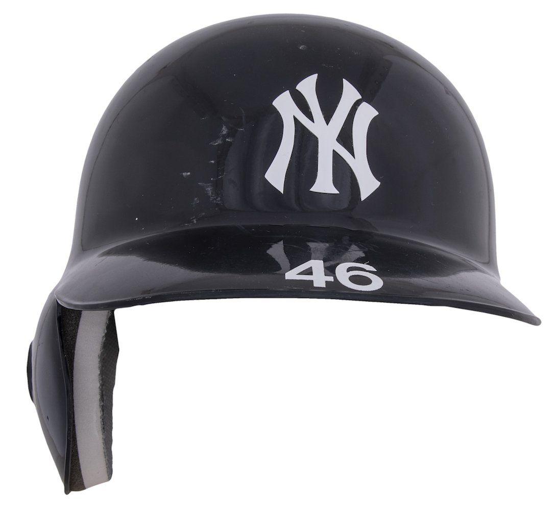 Andy Pettitte Used 2012 Yankees Helmet Steiner Mlb Sportsmemorabilia Autographs In 2020 Sports Memorabilia Batting Helmet Allen Iverson