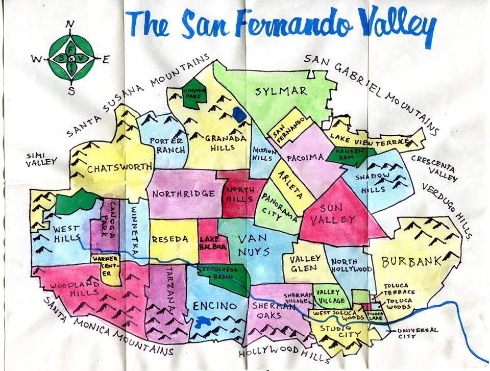 Pendersleigh  Sons Cartographys water color map of the San