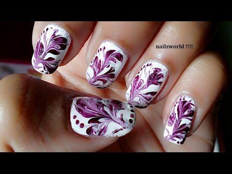 Toothpick Nail Art 4 Dry Marble Nail Art Drag Marble Nail Art