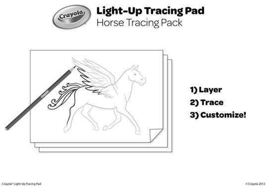 Horses Light Up Tracing Pad Coloring Pages Free Coloring Pages