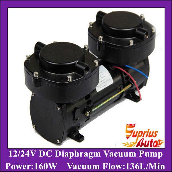 179.0US $  GZ70B 12 DC12v/24v Oil Free DC/AC Electric Diaphragm Vacuum Pump 136LPM vacuum flow,160w Double cylinder compression pump diaphragm vacuum pump compression pumpvacuum pump - AliExpress