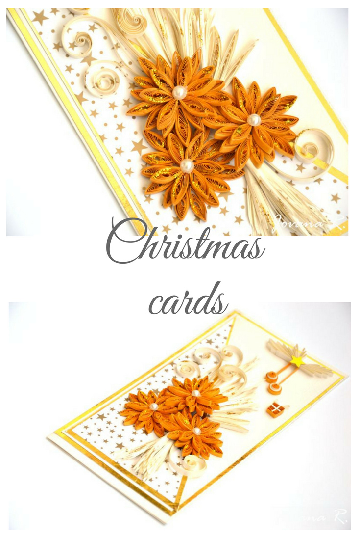 Handmade christmas cards quillingchristmas christmascard all christmas greeting card quilling card gold and white xmas cardelegant christmas card card christmas card kristyandbryce Images