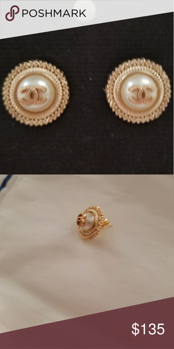 Authentic Chanel On Earrings Ons Made Into By Me These Are The