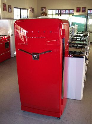 Vintage Red 1950s Refrigerator I Must Have This My Kitchen Is