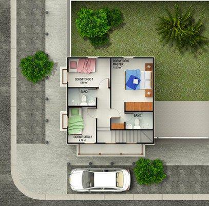 Casas De 2 Pisos Chiquitas Y Bonitas Ian Pinterest