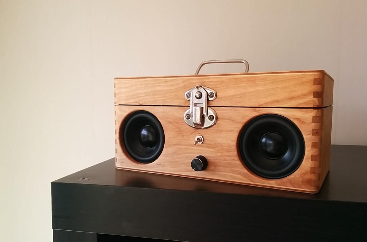 Cool Music Speakers Portable Speaker From Old Wooden Box Speakers