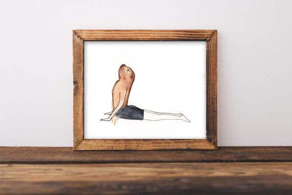 Impresión Foca Yoga por lusouki en Etsy
