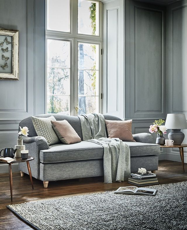 Appledoe 3-seater sofa in Broad Weave Linen Silver (Willow & Hall, £1,329 / sofa bed £1,519)