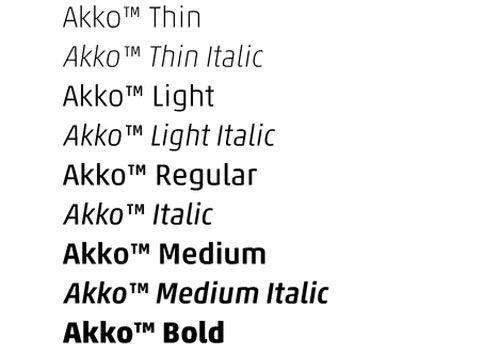 Akko™ Family Pack - High Quality Premium Font | Fonts