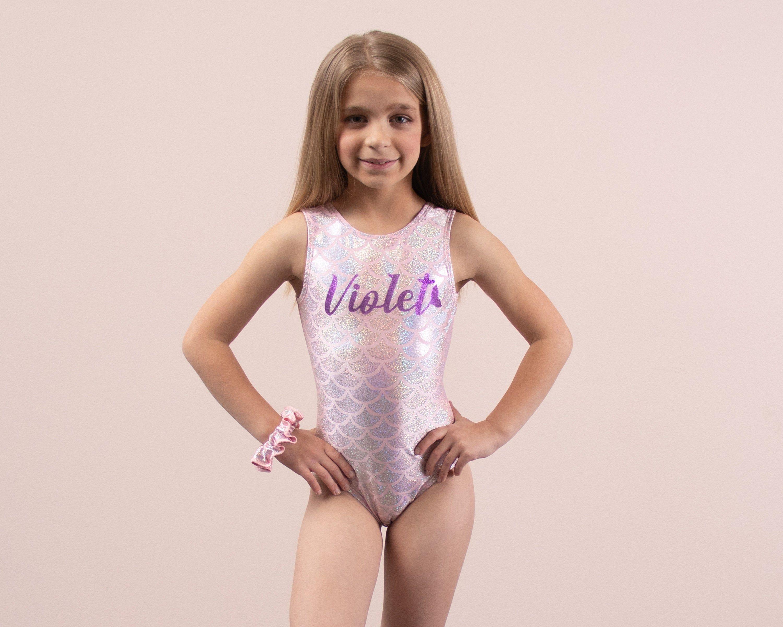 Vintage Gymnastics Unitard Leotard Toddler Girl