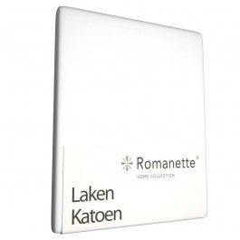 Zojuist Laken Romanette Wit (Katoen)-240 x 260 cm (Lits-jumeaux) gekocht: