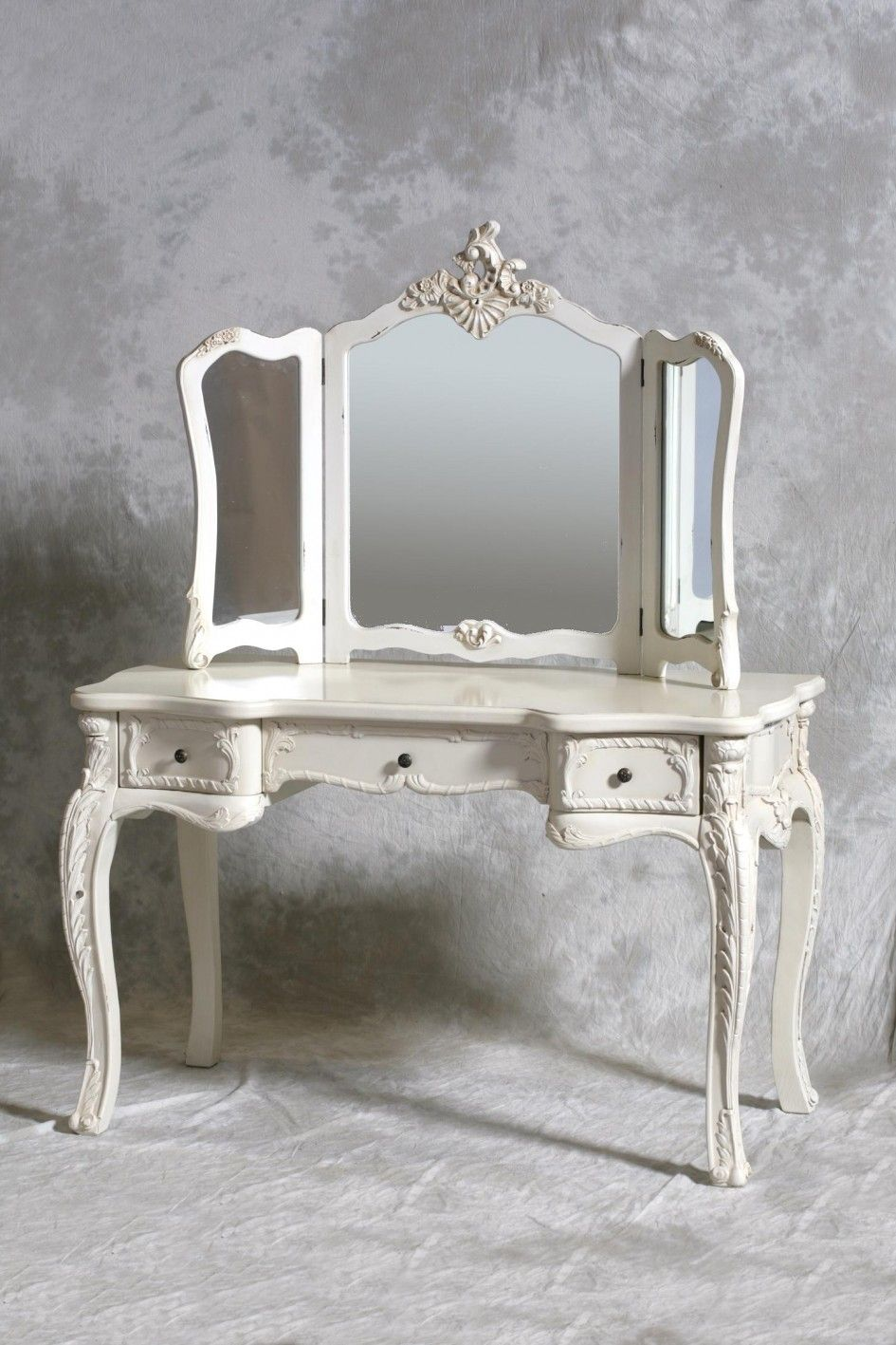 Vanity Dressing Table With Mirror Decoration Fine Looking