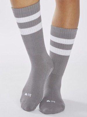 Crew Grip Socks - Gray (Barre / Pilates)