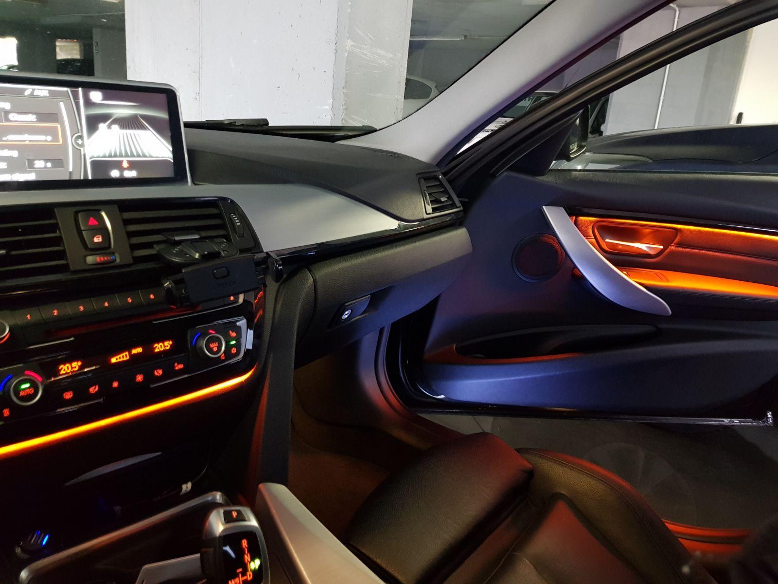 high quality after market bmw f30 interior door panel decorative trim led ambient lights lighting upgrade by retrofit kits  [ 1600 x 1200 Pixel ]
