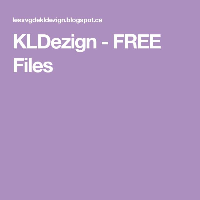 KLDezign - FREE Files