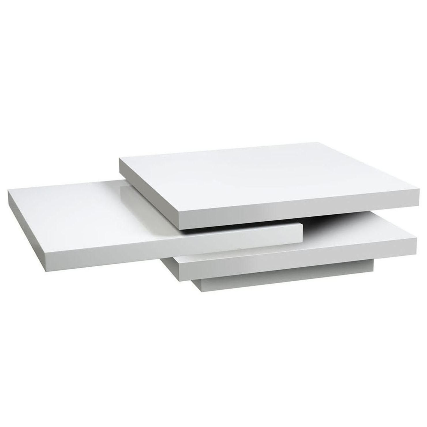 Ice Multifunctional Coffee Table White High Gloss