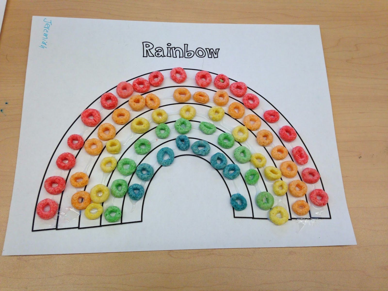 Fruit Loop Rainbows For Weather Unit Free Rainbow Template