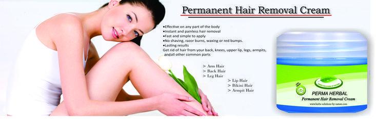 Dauerhafte Haarentfernungscreme