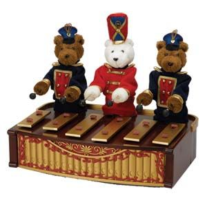 Animated Musical Bandstand Bears PLAYS 50 All Year & Christmas Songs SOLD OUT & Discontimued.