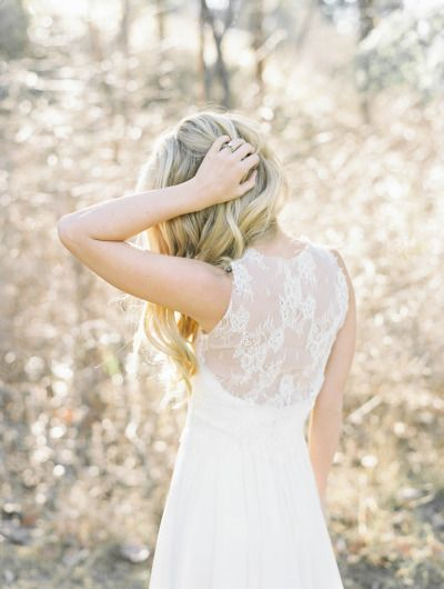Lace back: http://www.stylemepretty.com/canada-weddings/british-columbia/2014/06/25/summer-inspired-wedding-shoot-in-the-okanagan-valley/ | Photography: Christie Graham - http://www.christiegrahamphotography.com/