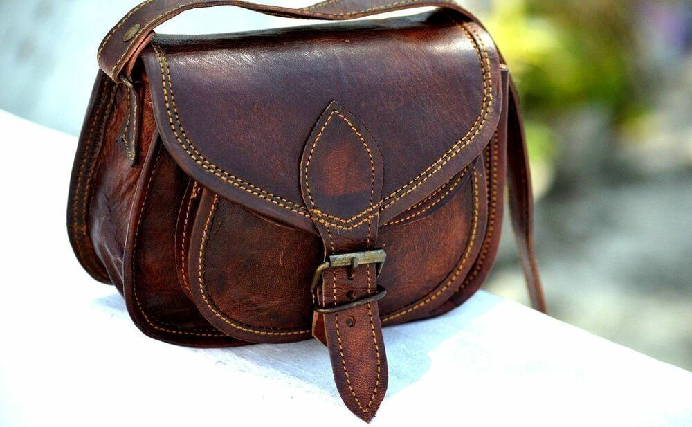 Women/'s Retro Vintage Leather  Shoulder Purse Handbag Crossbody Bag Satchel Lot