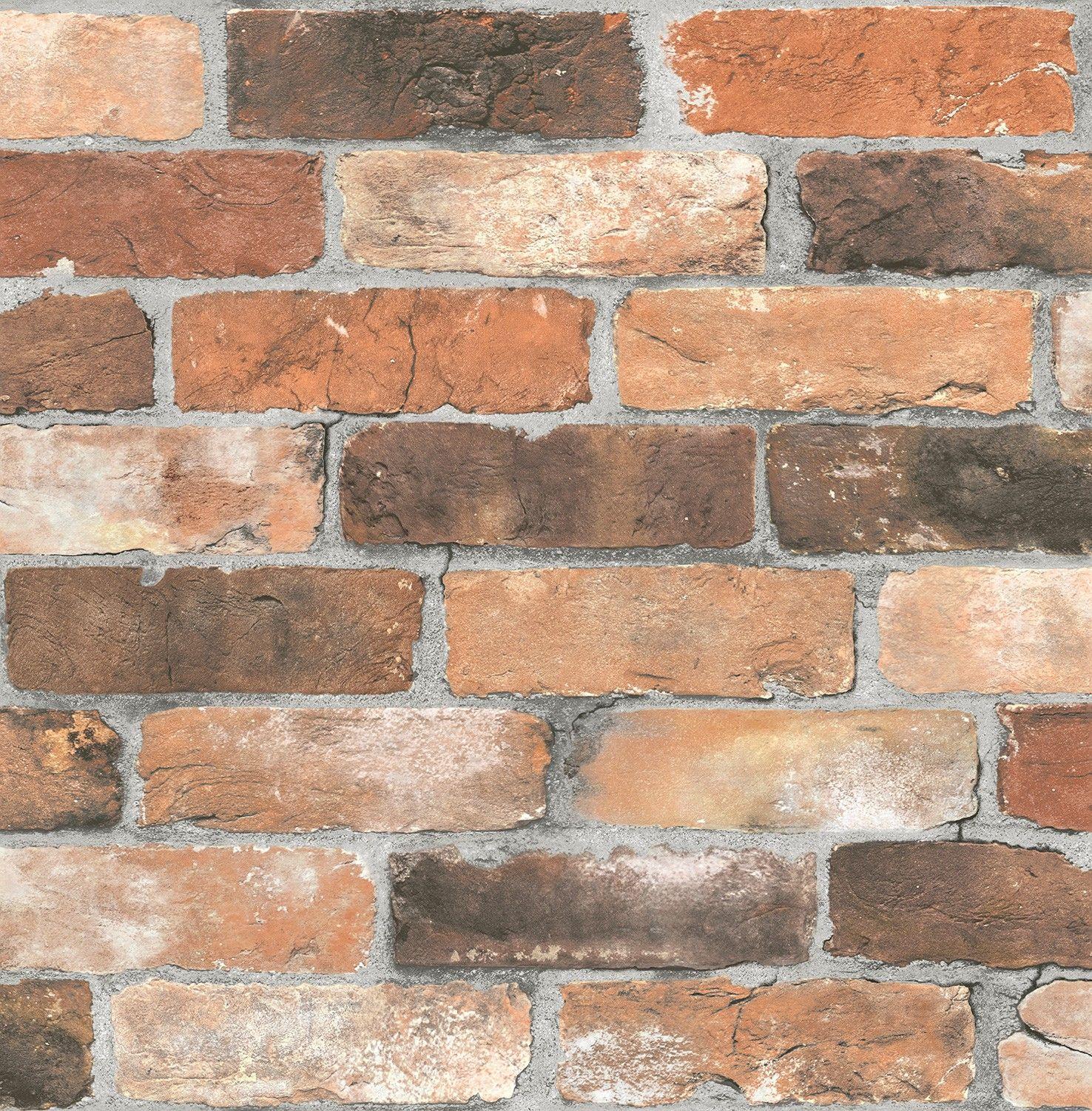 tapete stein optik mauer rasch textil grau rot 022300 tapeten g nstig tapeten und steinwand. Black Bedroom Furniture Sets. Home Design Ideas