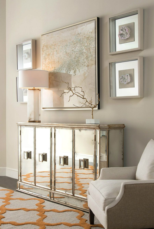 Juno Foxed Mirror Credenza Mirrored Credenza Home Decor Home Interiors And Gifts