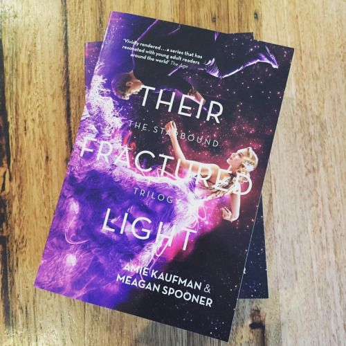 Their Fractured Light is out in Australia! Aussies, grab your copy and taunt the Americans, who have to wait until Dec 1st! (Americans, preorder at www.theirfracturedlight.com/preorder to get your kickass poster, and taunt the Aussies right back!) #thesebrokenstars #thisshatteredworld #theirfracturedlight #starboundtrilogy #bookstagram #booknerdigans #ireadya #loveozya
