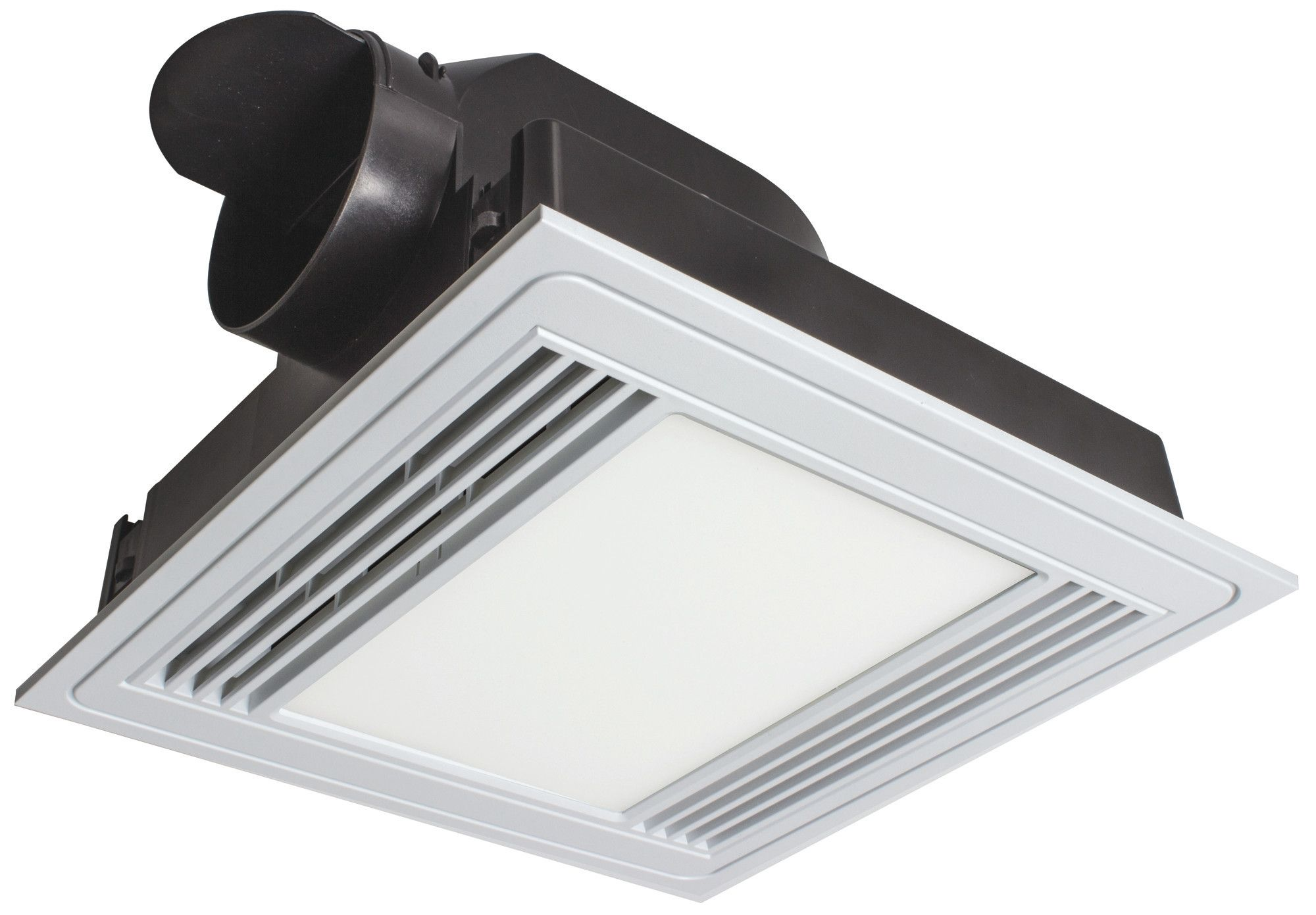 Tercel Square Bathroom Exhaust Fan With Light Brilliant