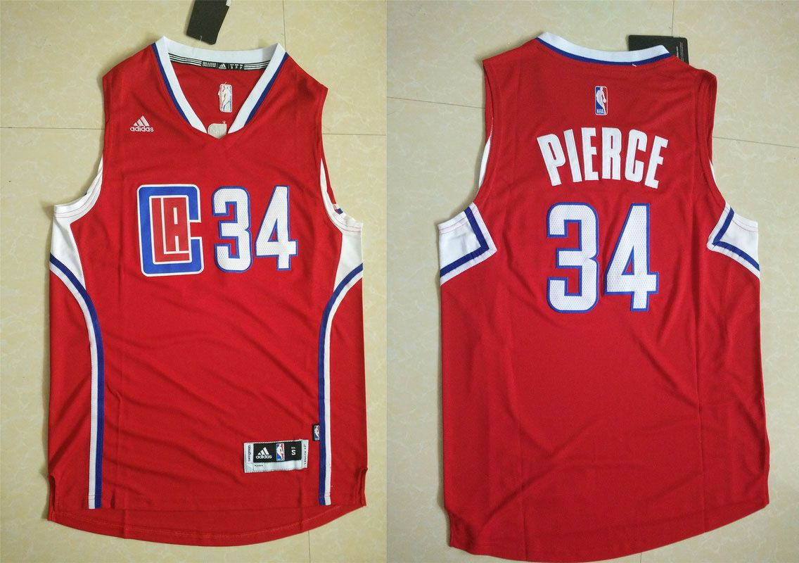 be5744c197a Los Angeles Clippers  34 Pierge Red Men 2017 New Logo NBA Adidas Jersey