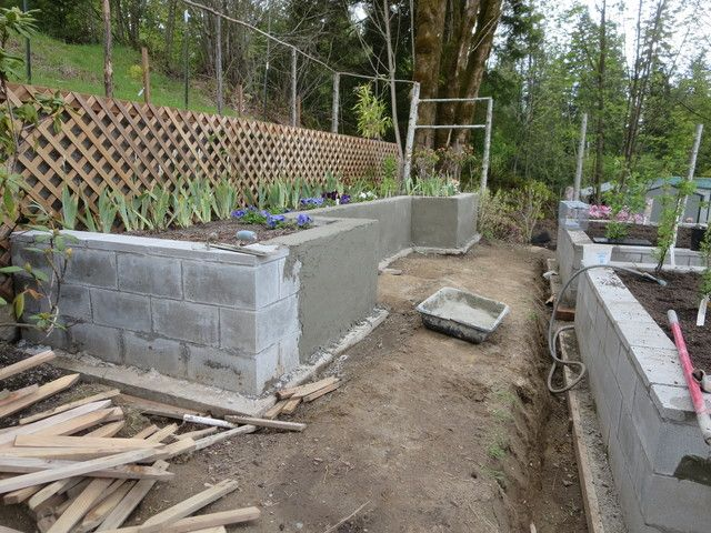 Using concrete blocks to build beds Square Foot Gardening Forum  Using  concrete blocks to build. Square Foot Gardening Forum