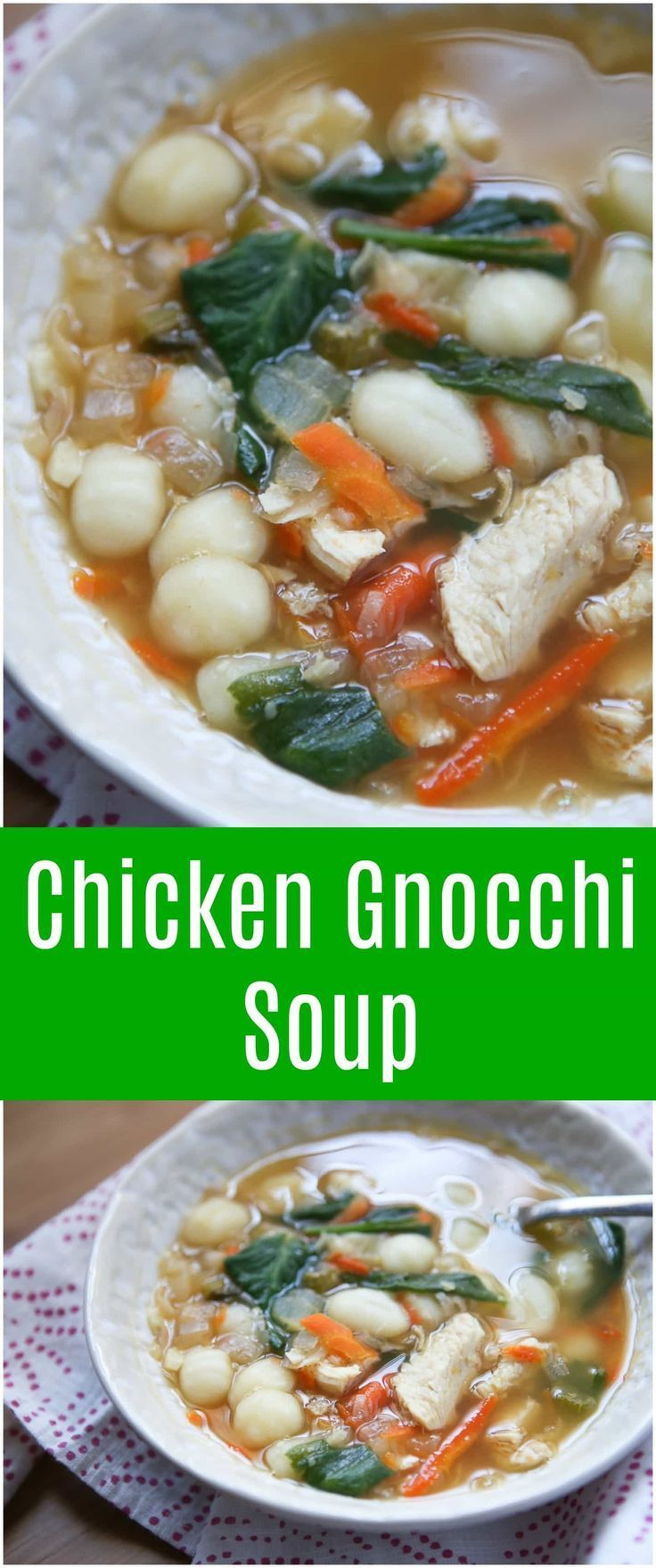 Healthy Chicken Gnocchi Soup Recipe Chicken gnocchi
