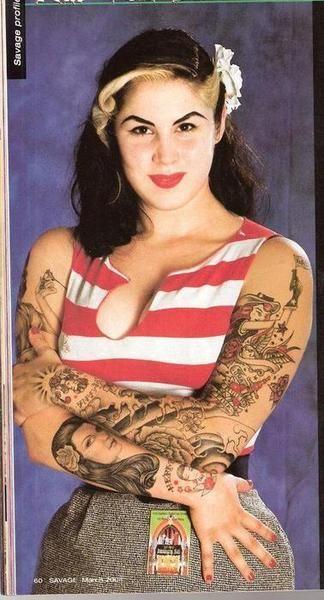 Kat Von D Back In The Day Then Kat Von D Tattoos Kat Von Inked Girls