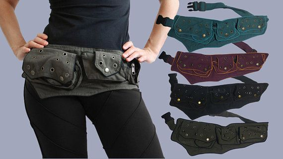 03b0e8c0bf5 Utility belt - Pockets - Belt Bag - Festival Bag - funny pack - waist bag -  Cotton - Pouch