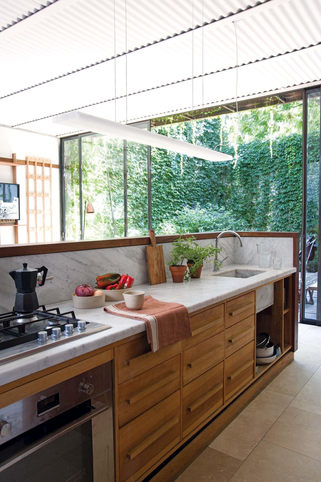 Cocinas madera clara cocina blanca madera clara - Cocinas madera clara ...