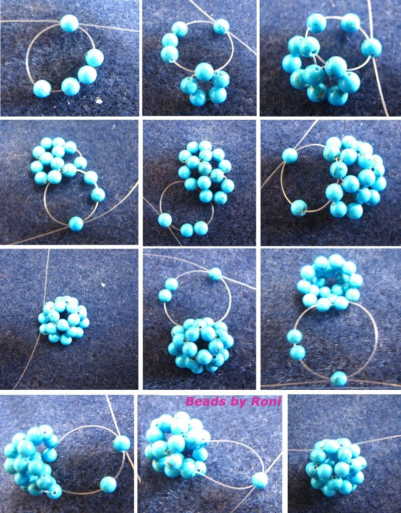 Beaded Ball Tutorial - and she has sketches with #s on each bead ...