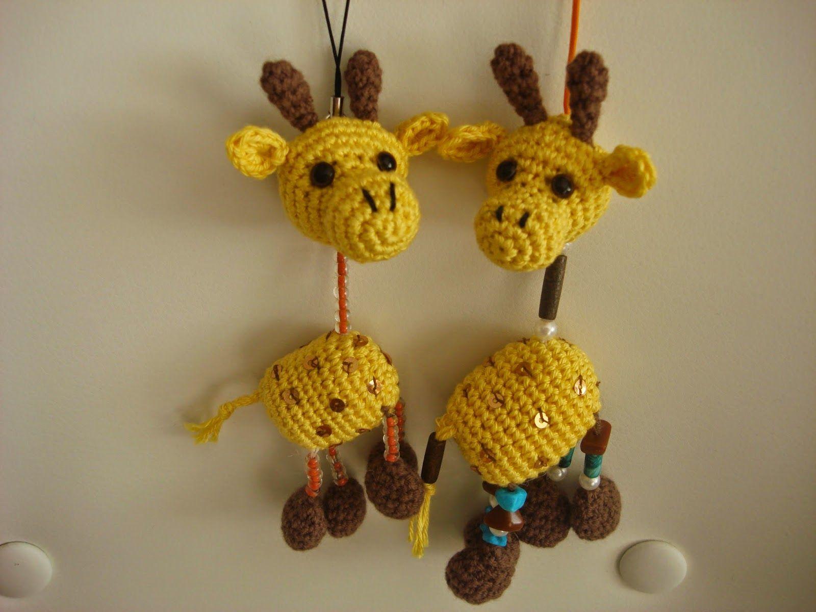 CANAL CROCHET: Giraffe Key amigurumi padrão livre.   lembrancinhas ...