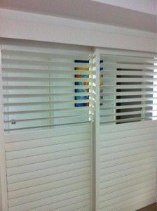 Creative Blinds Awnings Plantation Shutters Room Divider 89mm Bwood White