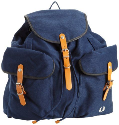 Fred Perry Men's Twill Rucksack, Service Blue, One Size Fred Perry. $130.99. 100% Pvc Cotton Trim. Made in China. Rucksack. Cotton twill. Hand Wash. Save 10% Off!
